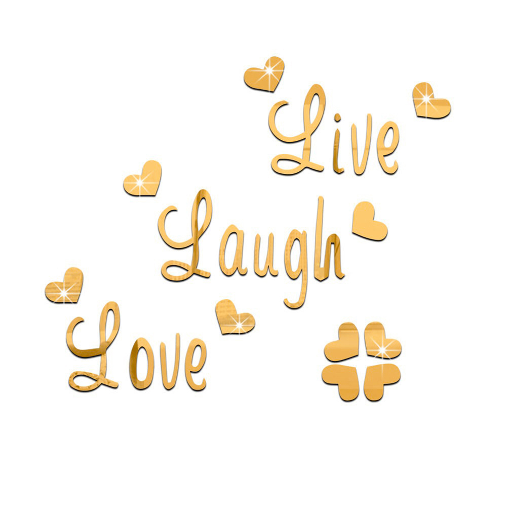 LIVE-LAUGH-LOVE-QUOTE-REMOVABLE-WALL-STICKERS-MIRROR-DECAL-ART-DIY-ROOM-DECOR miniature 13
