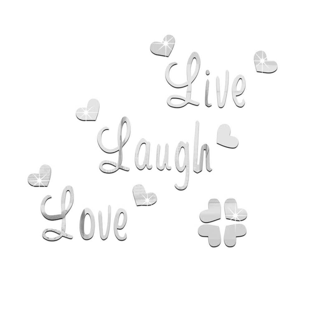 LIVE-LAUGH-LOVE-QUOTE-REMOVABLE-WALL-STICKERS-MIRROR-DECAL-ART-DIY-ROOM-DECOR miniature 15